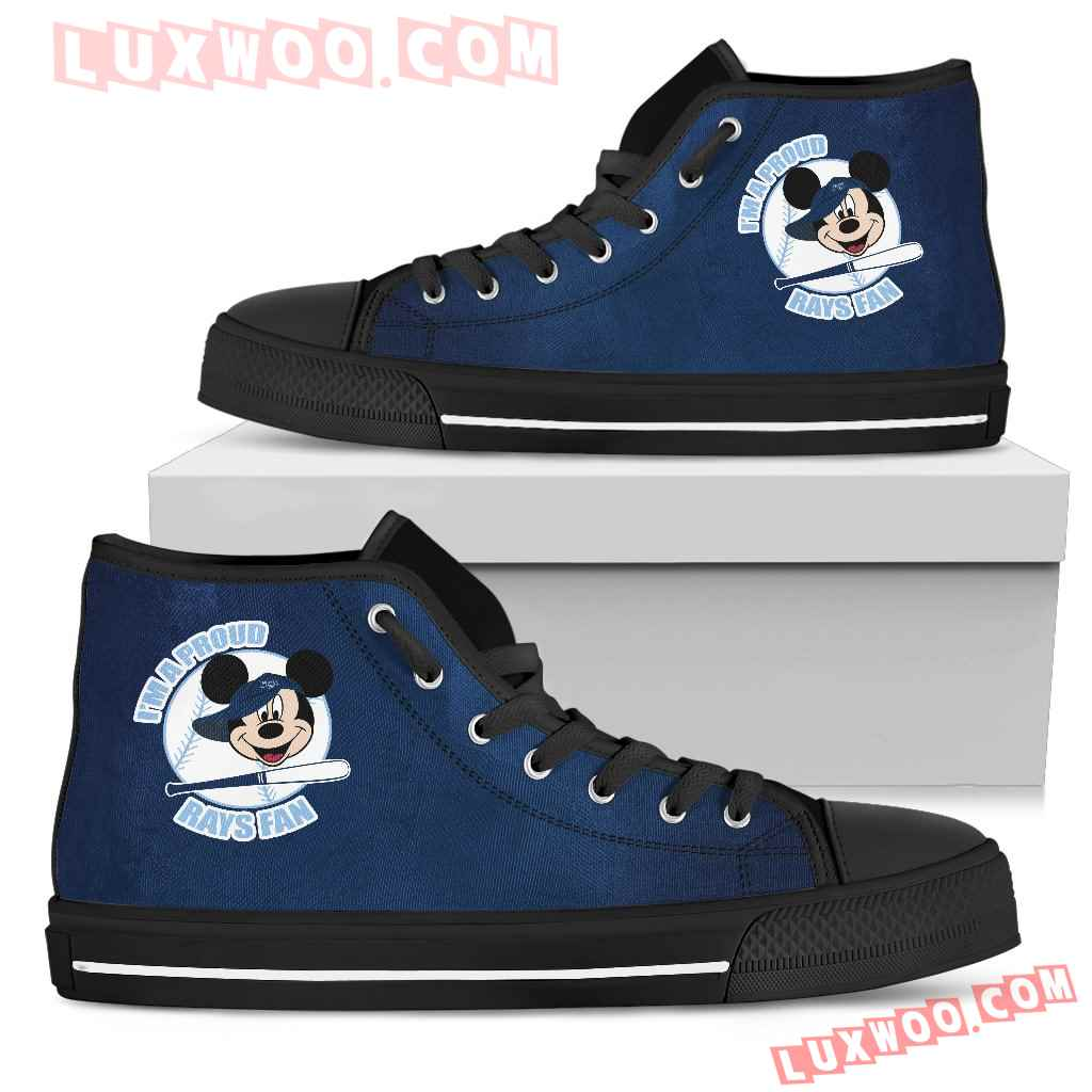 Tampa Bay Rays Fan Mickey Circle High Top Shoes