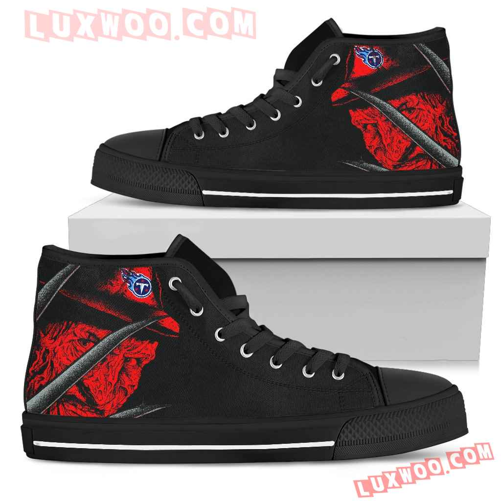 Tennessee Titans Nightmare Freddy Colorful High Top Shoes