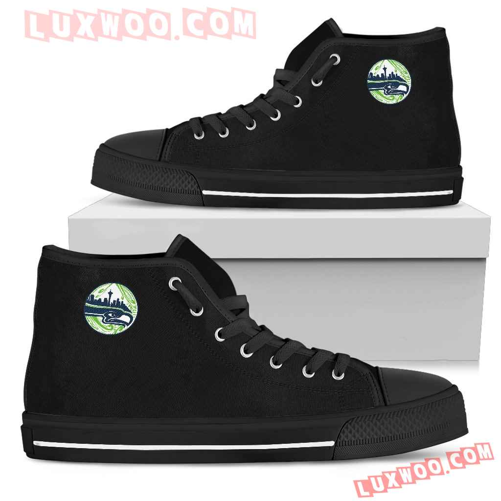 The City Seattle Seahawks High Top Shoes
