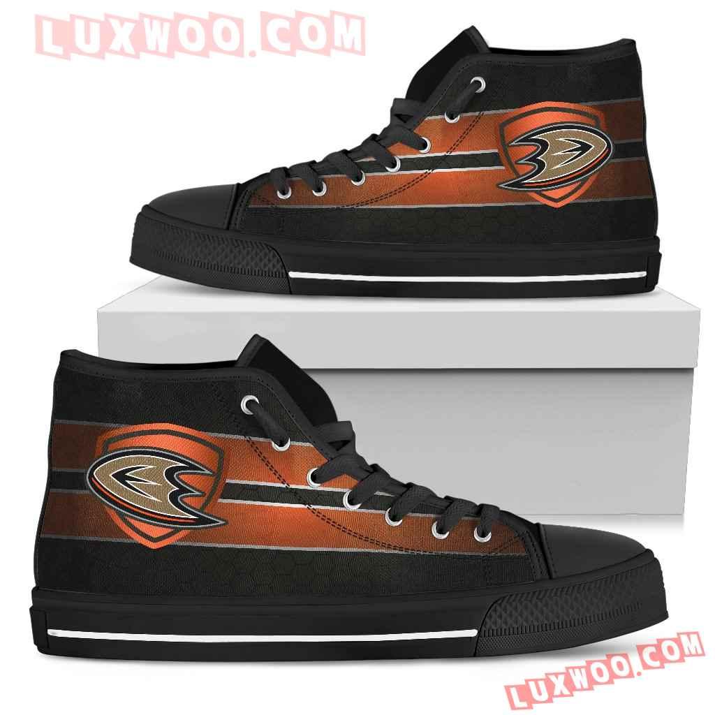 The Shield Anaheim Ducks High Top Shoes