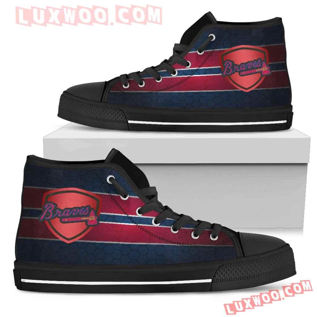 The Shield Atlanta Braves High Top Shoes
