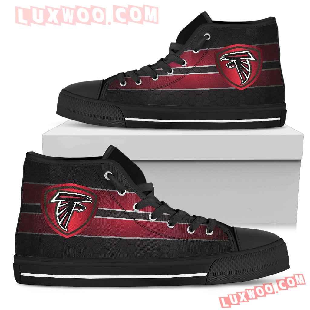 The Shield Atlanta Falcons High Top Shoes