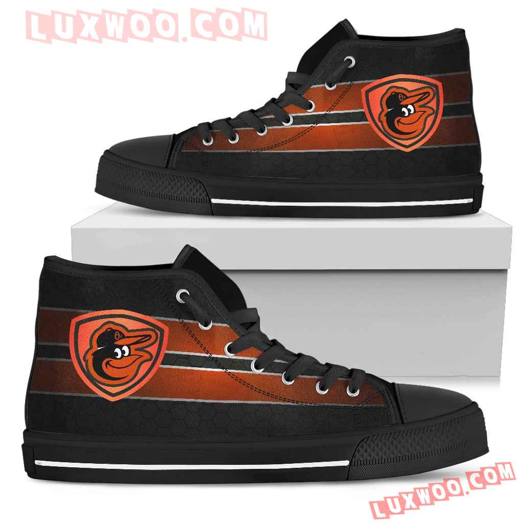 The Shield Baltimore Orioles High Top Shoes