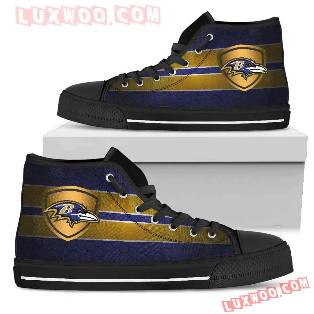 The Shield Baltimore Ravens High Top Shoes