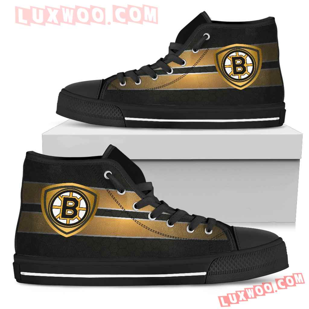 The Shield Boston Bruins High Top Shoes