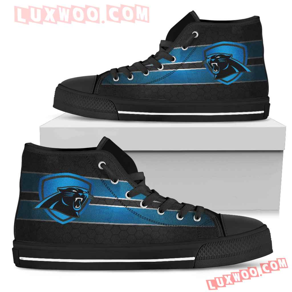 The Shield Carolina Panthers High Top Shoes