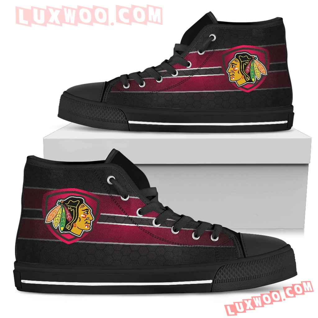 The Shield Chicago Blackhawks High Top Shoes