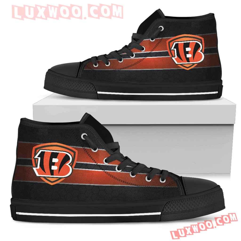 The Shield Cincinnati Bengals High Top Shoes