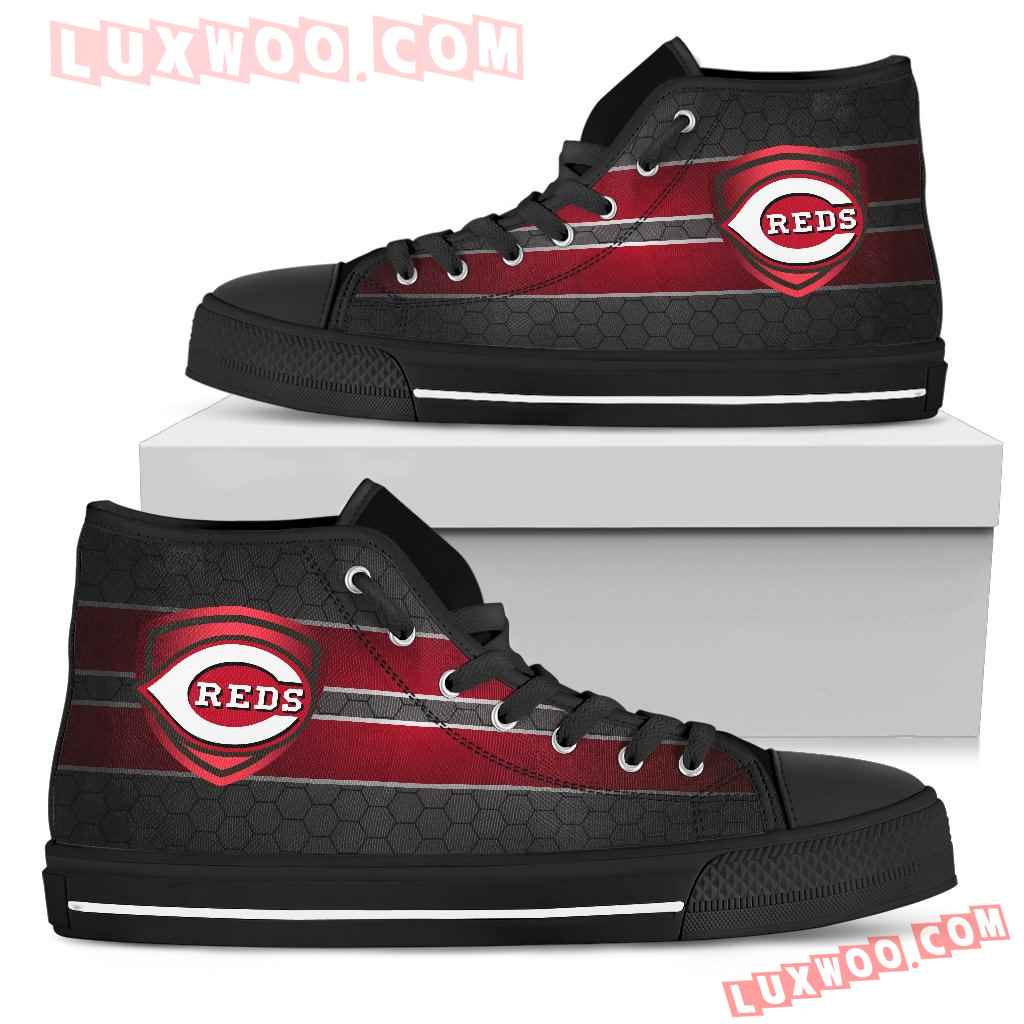 The Shield Cincinnati Reds High Top Shoes