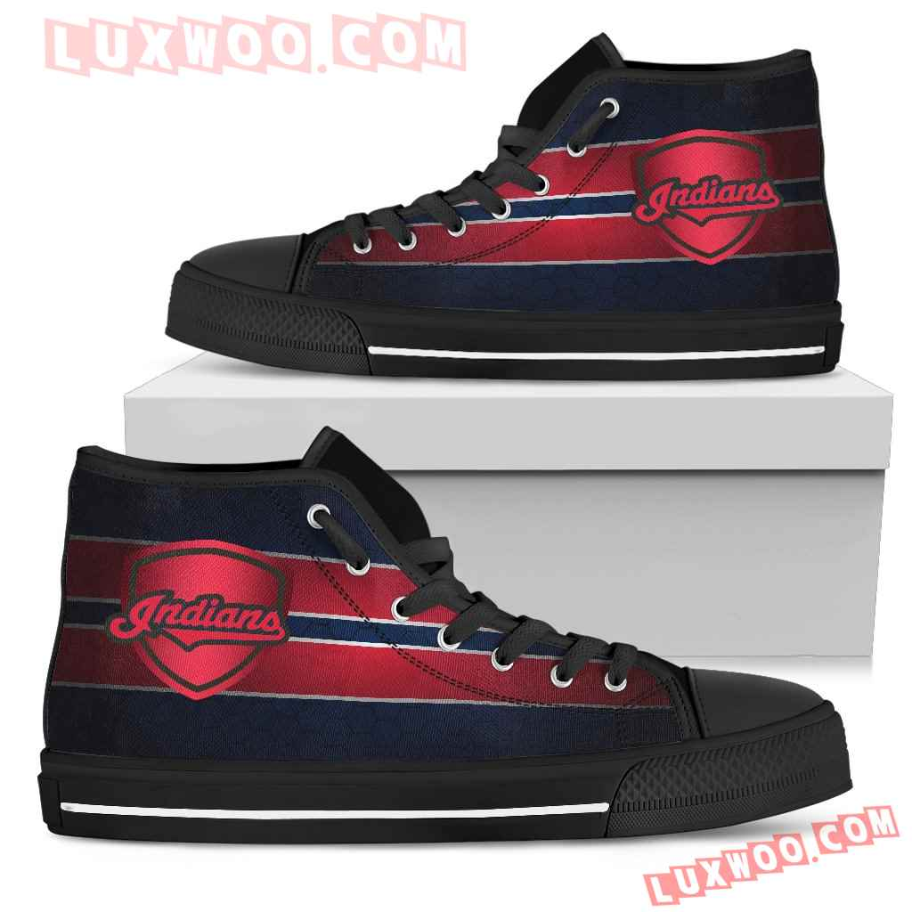 The Shield Cleveland Indians High Top Shoes