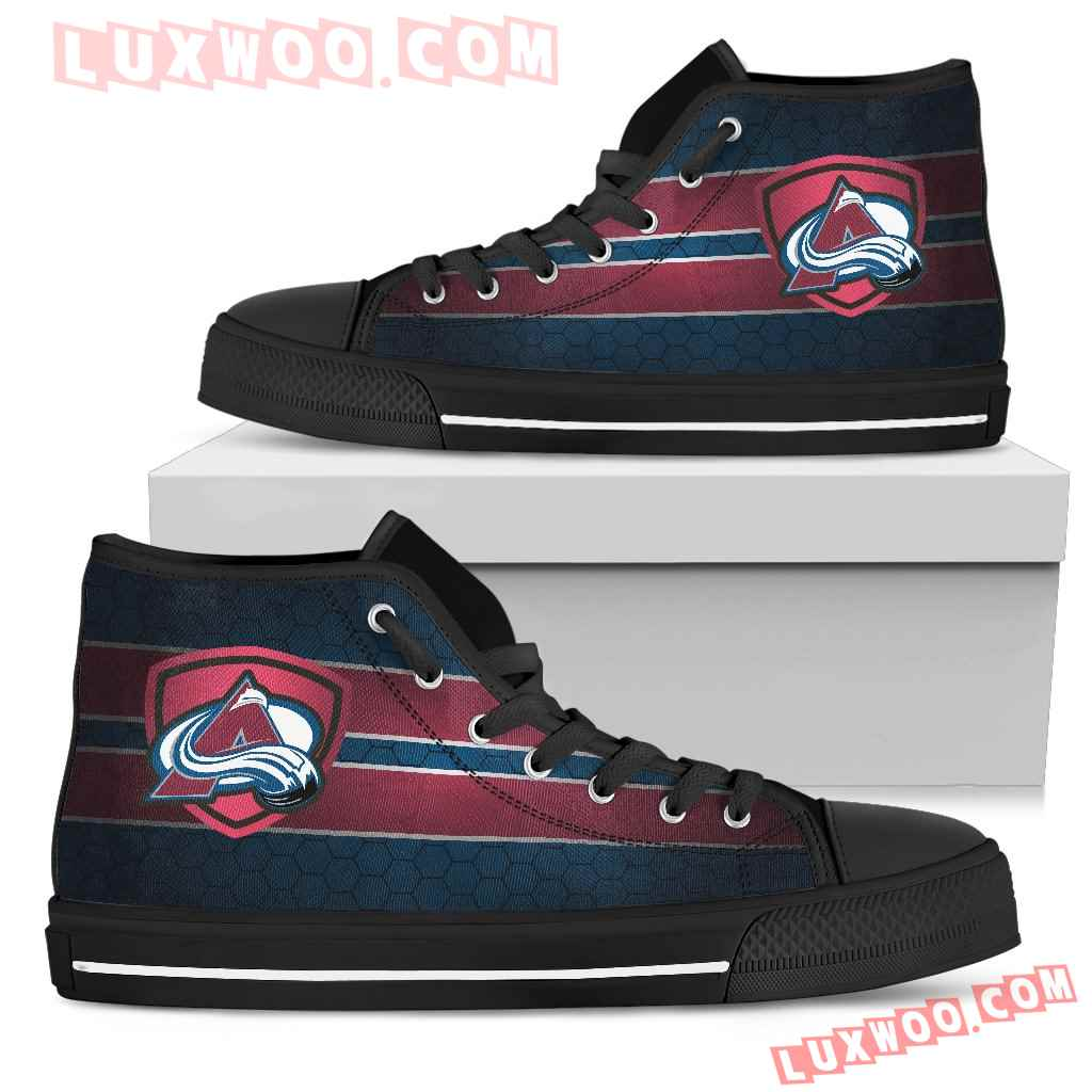 The Shield Colorado Avalanche High Top Shoes