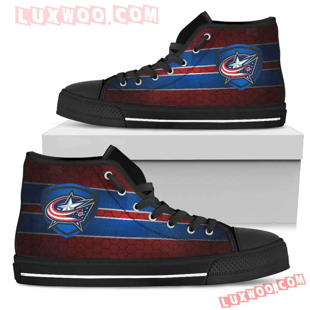 The Shield Columbus Blue Jackets High Top Shoes