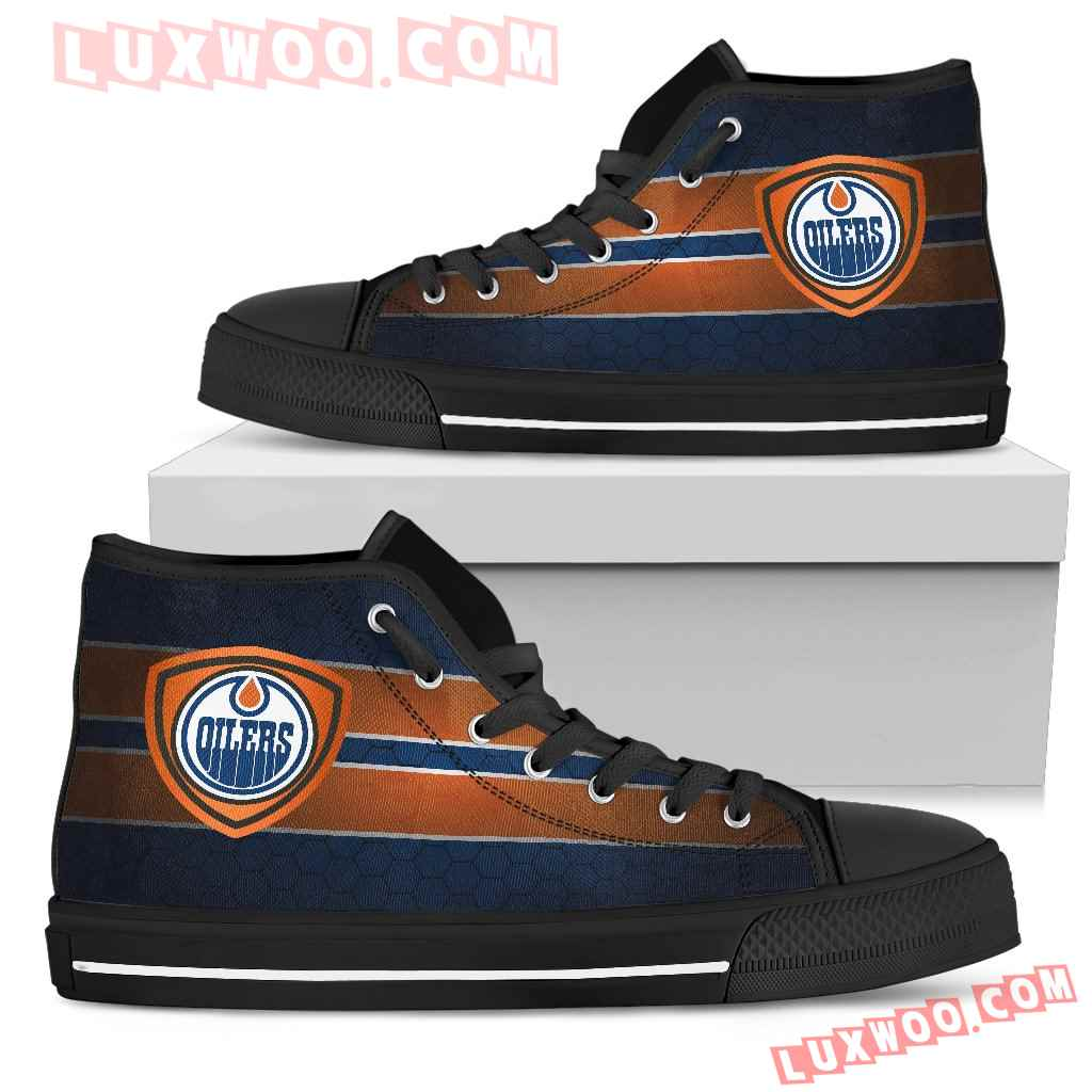 The Shield Edmonton Oilers High Top Shoes