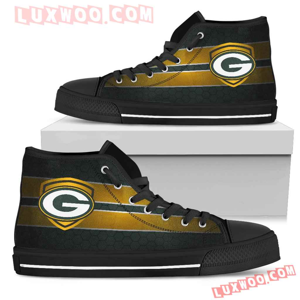 The Shield Green Bay Packers High Top Shoes