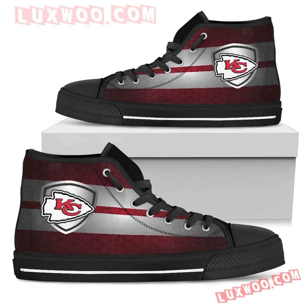 The Shield Kansas City Chiefs High Top Shoes