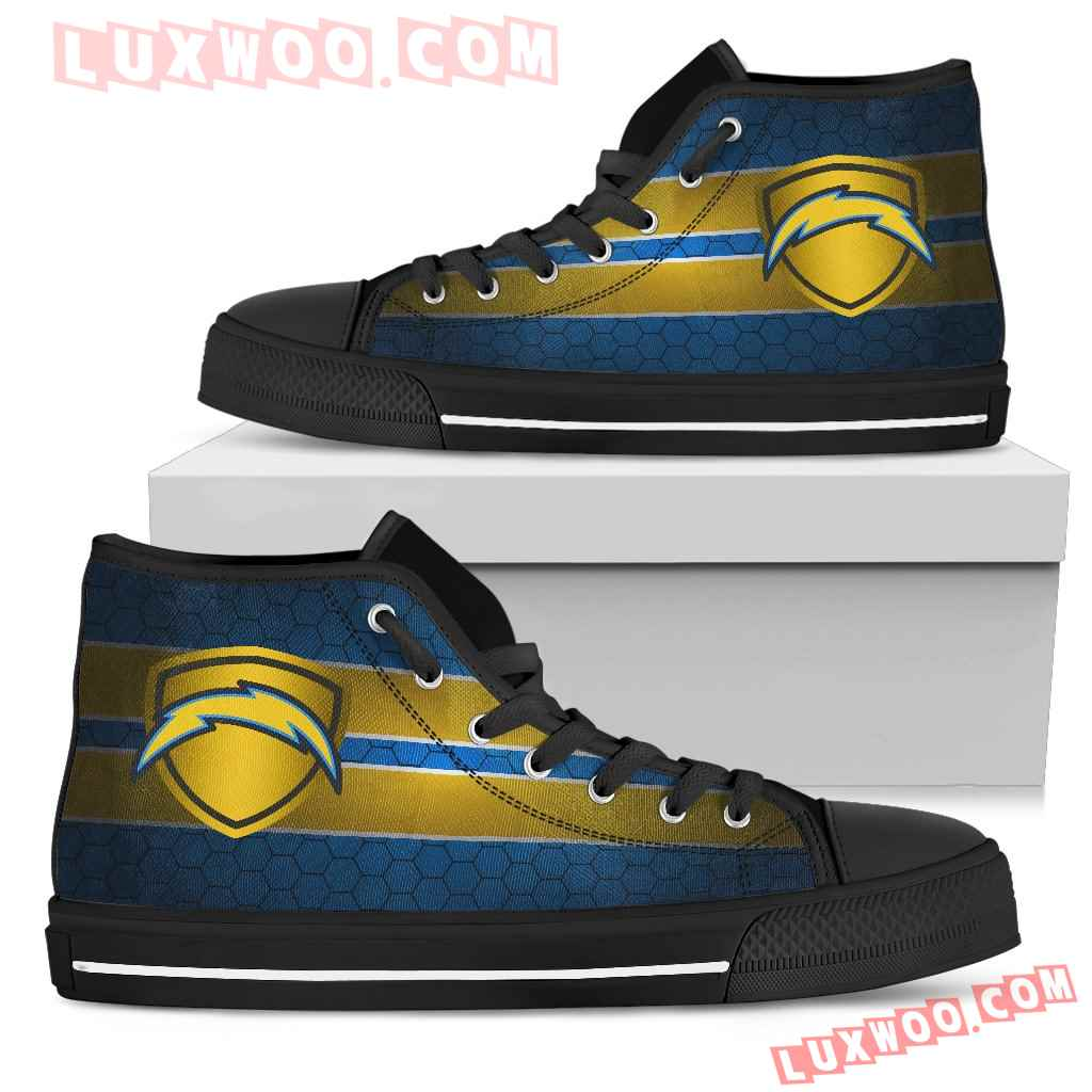 The Shield Los Angeles Chargers High Top Shoes