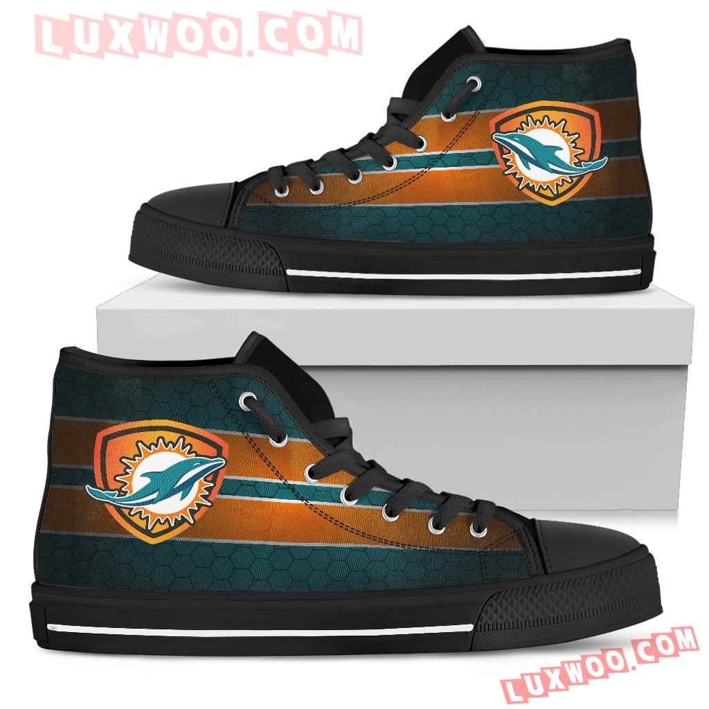 The Shield Miami Dolphins High Top Shoes