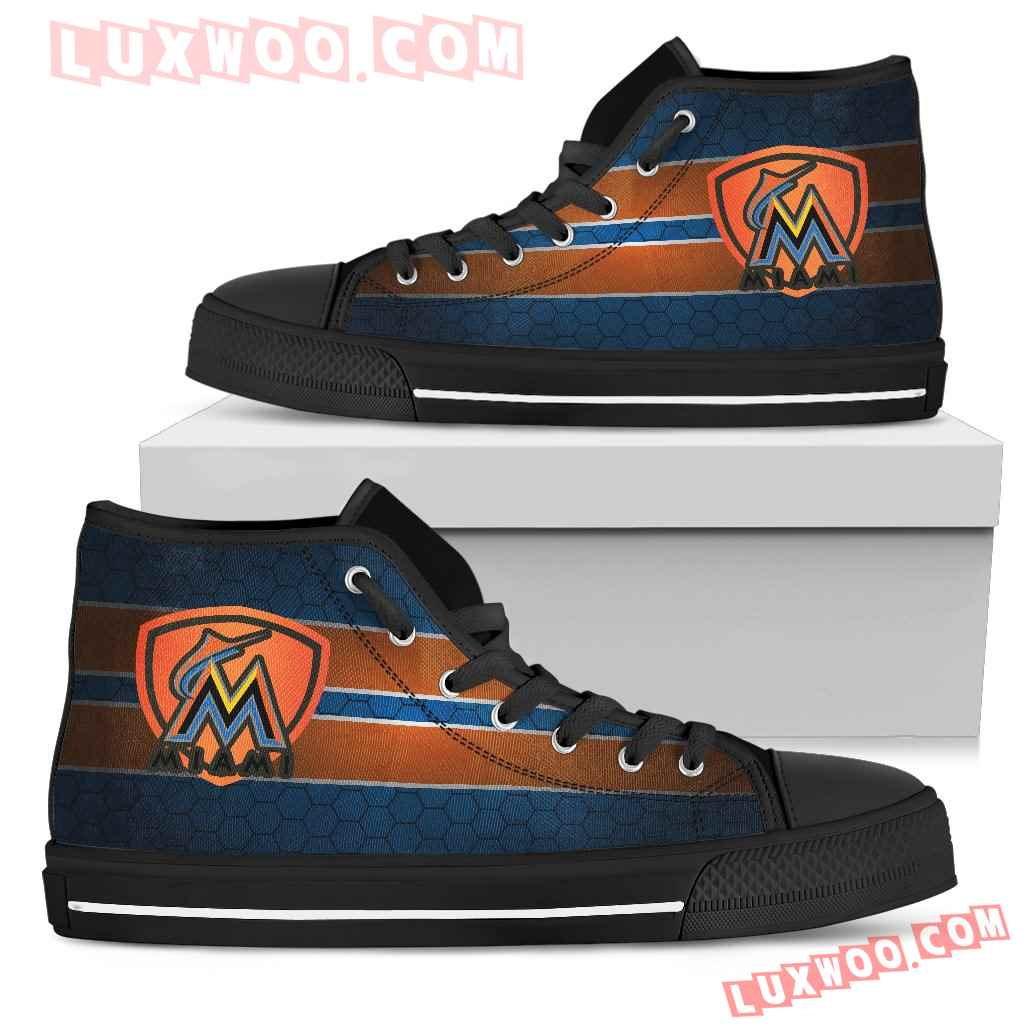 The Shield Miami Marlins High Top Shoes