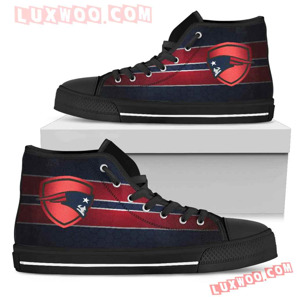The Shield New England Patriots High Top Shoes