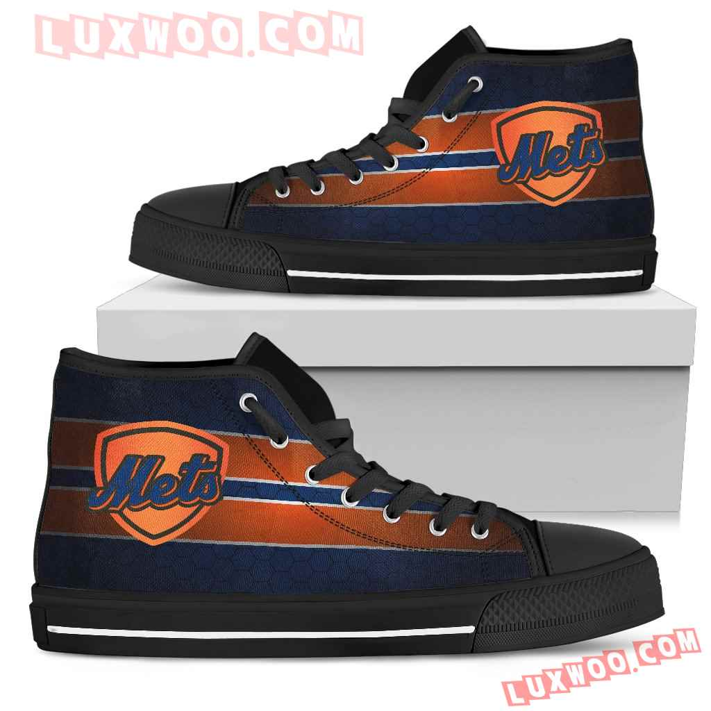 The Shield New York Mets High Top Shoes