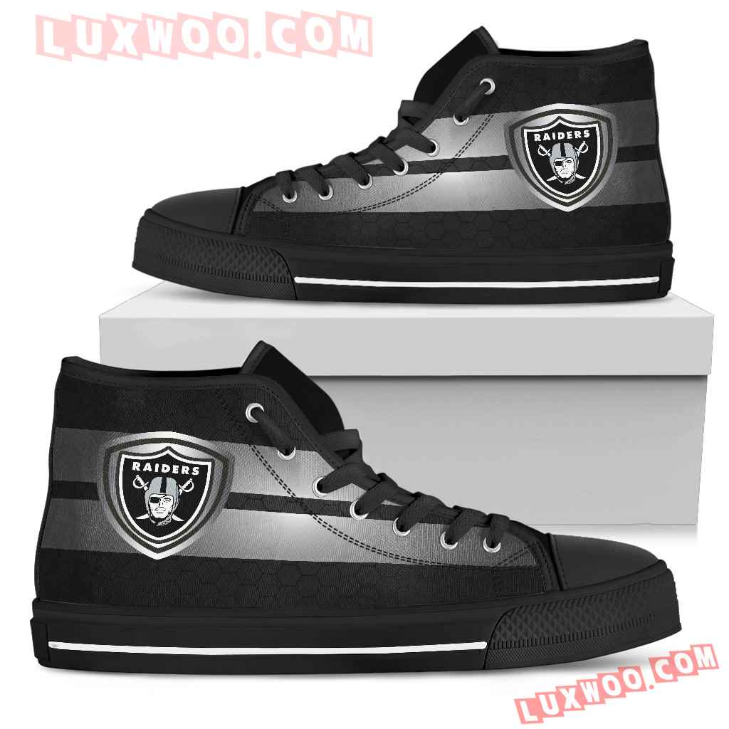 The Shield Oakland Raiders High Top Shoes
