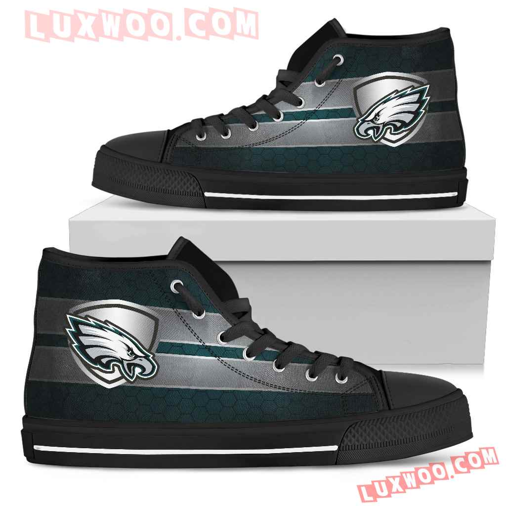 The Shield Philadelphia Eagles High Top Shoes