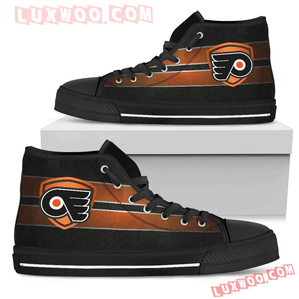 The Shield Philadelphia Flyers High Top Shoes