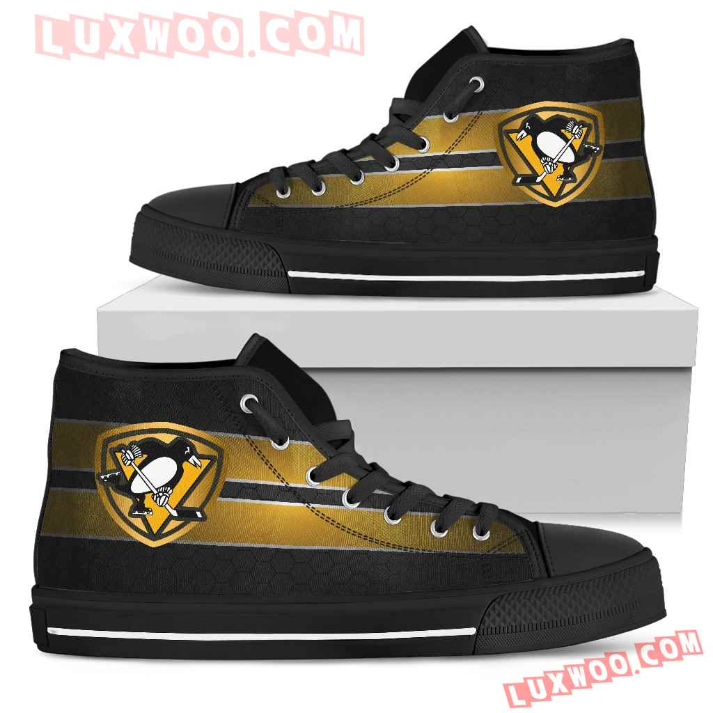 The Shield Pittsburgh Penguins High Top Shoes