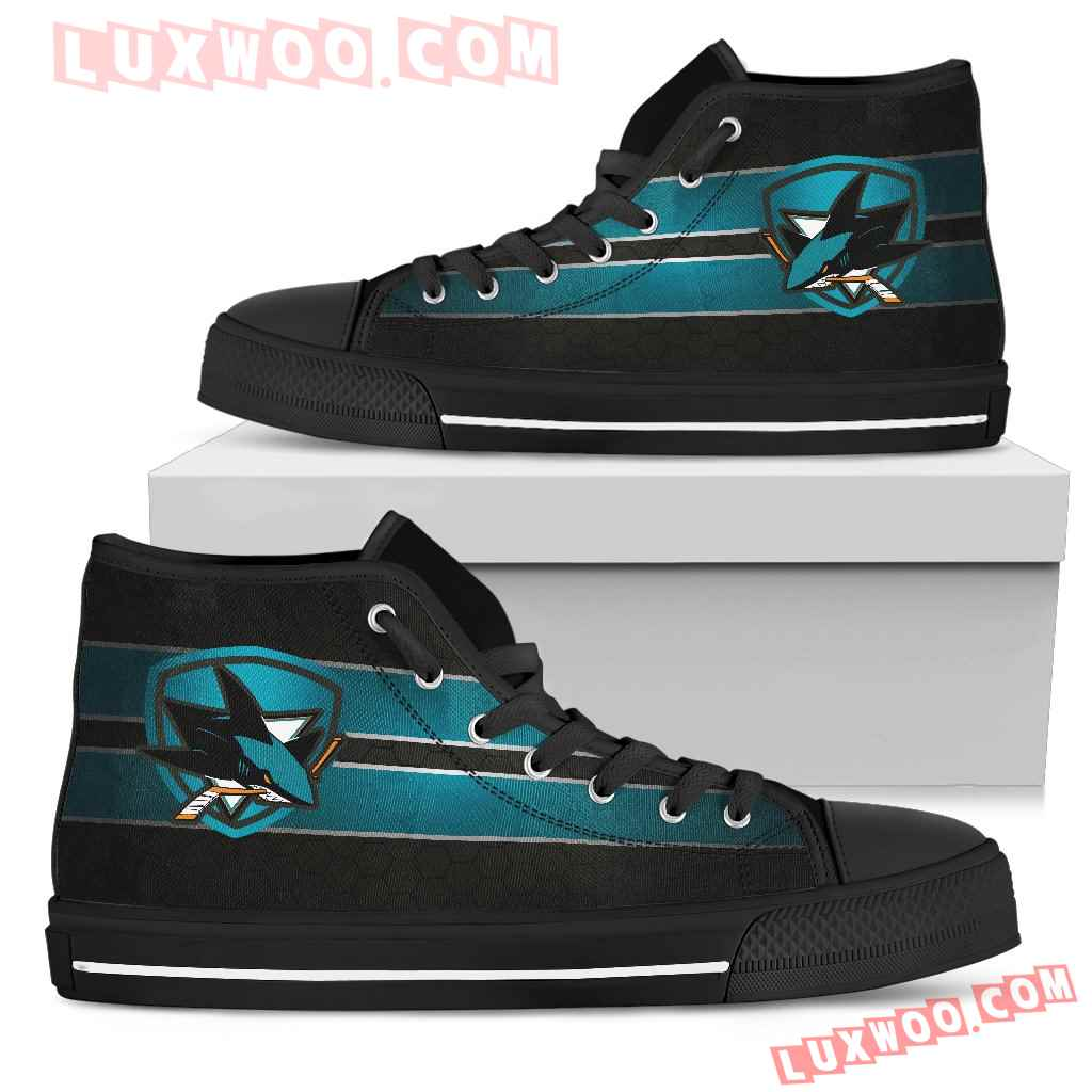 The Shield San Jose Sharks High Top Shoes