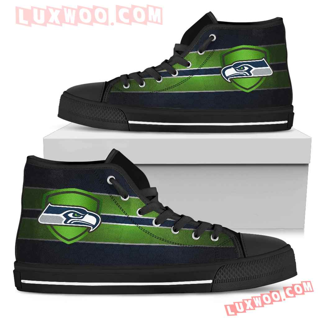 The Shield Seattle Seahawks High Top Shoes