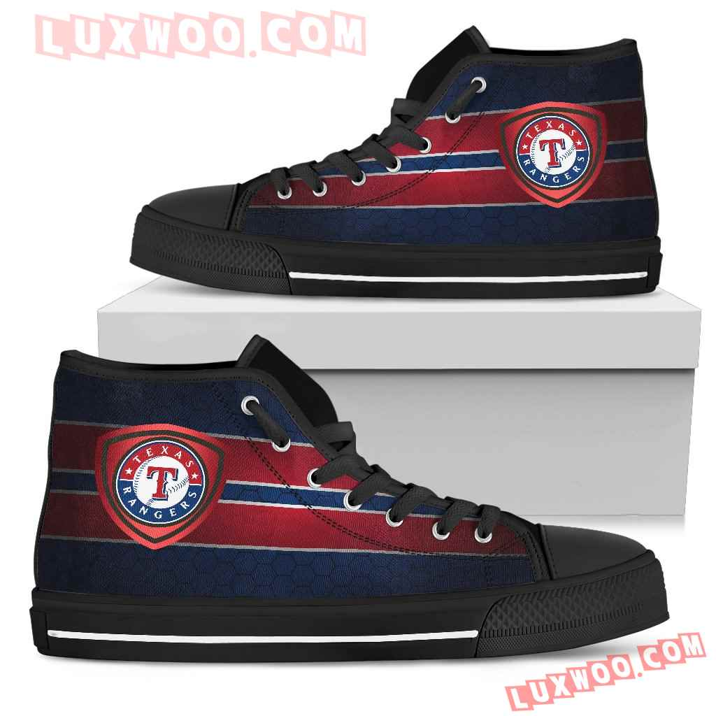 The Shield Texas Rangers High Top Shoes