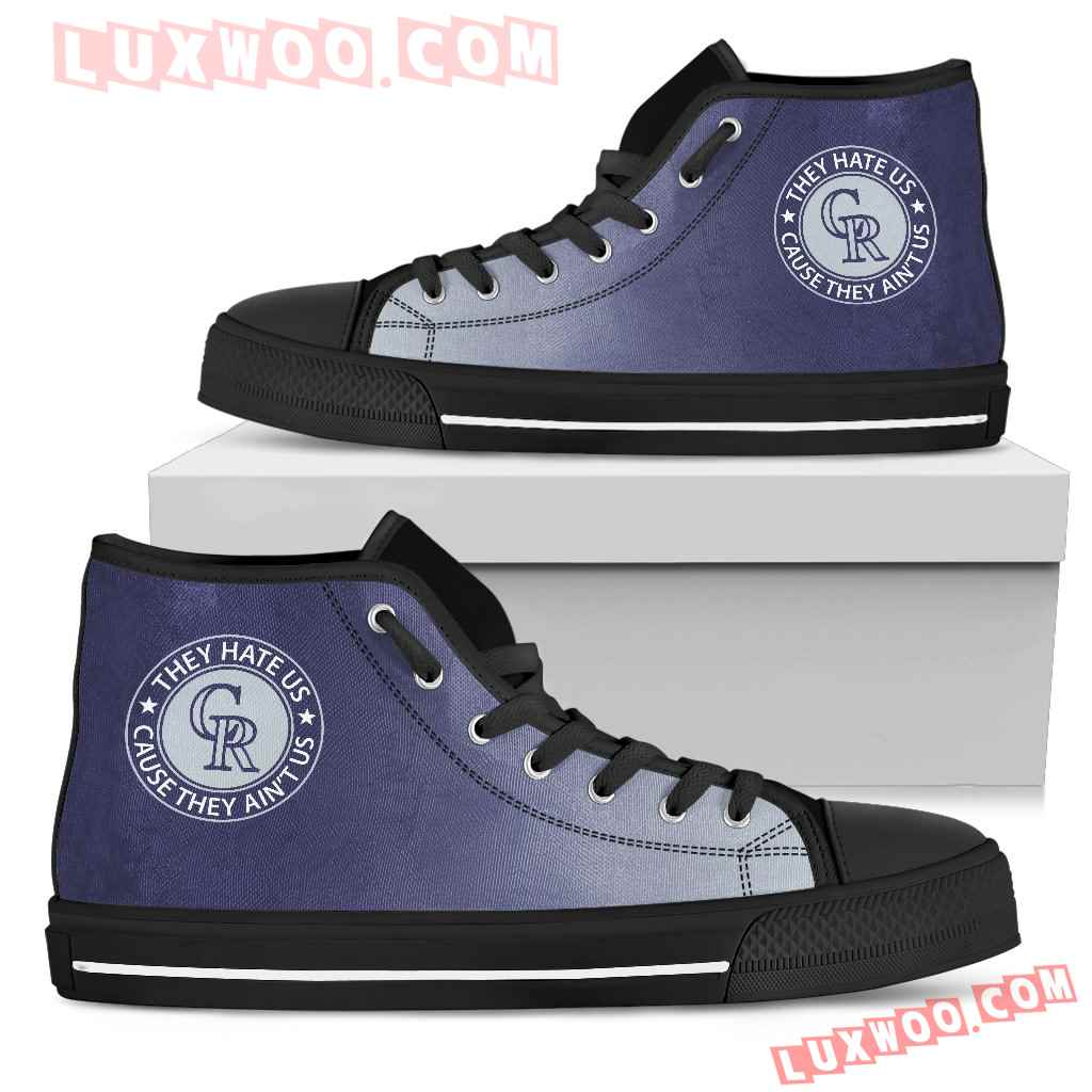 They Hate Us Cause They Aint Us Colorado Rockies High Top Shoes