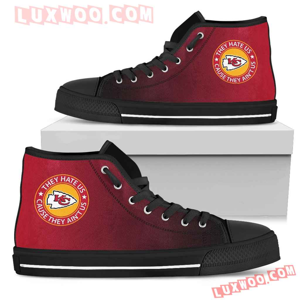 They Hate Us Cause They Aint Us Kansas City Chiefs High Top Shoes