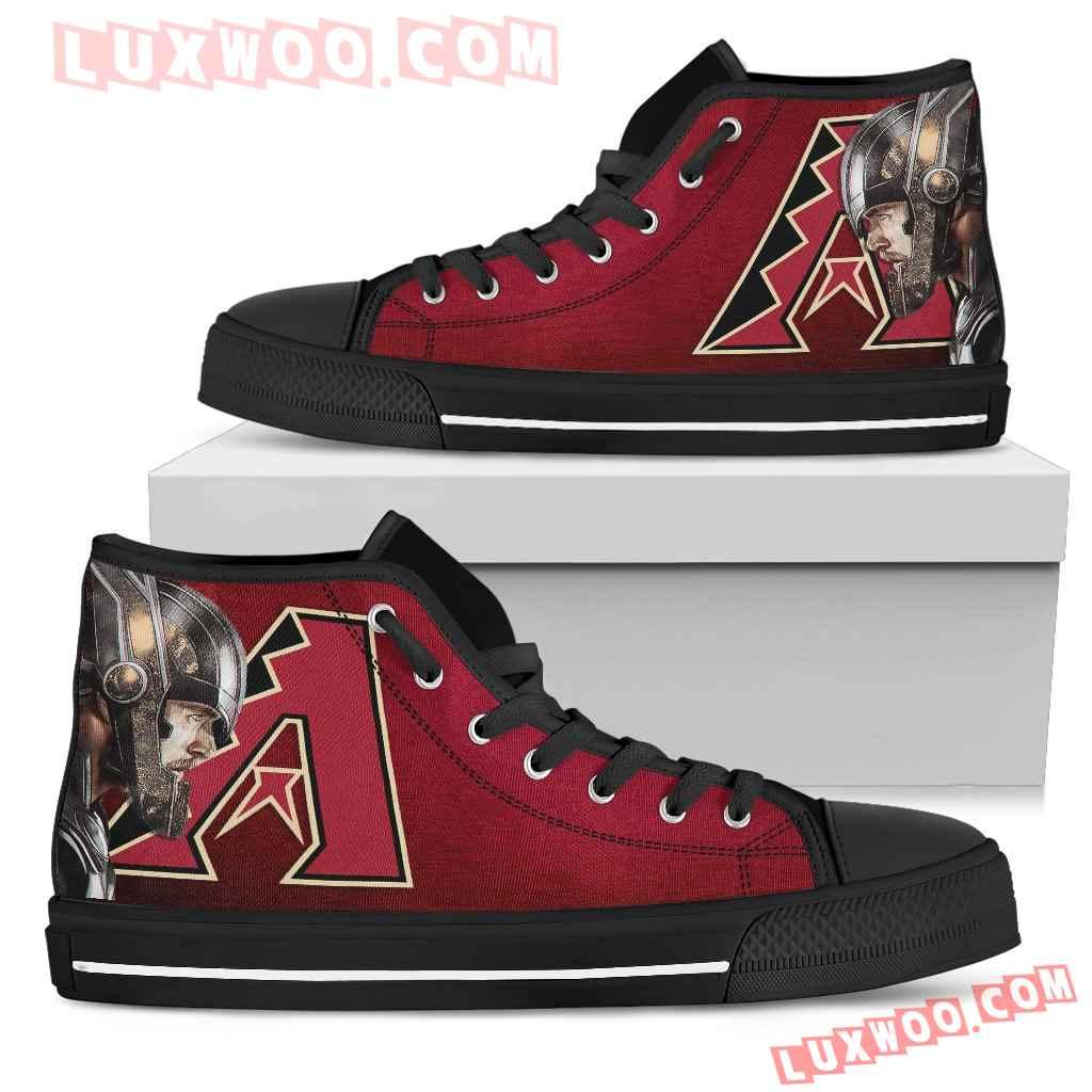 Thor Head Beside Arizona Diamondbacks High Top Shoes