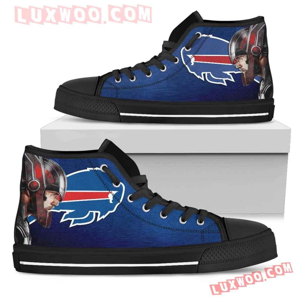 Thor Head Beside Buffalo Bills High Top Shoes