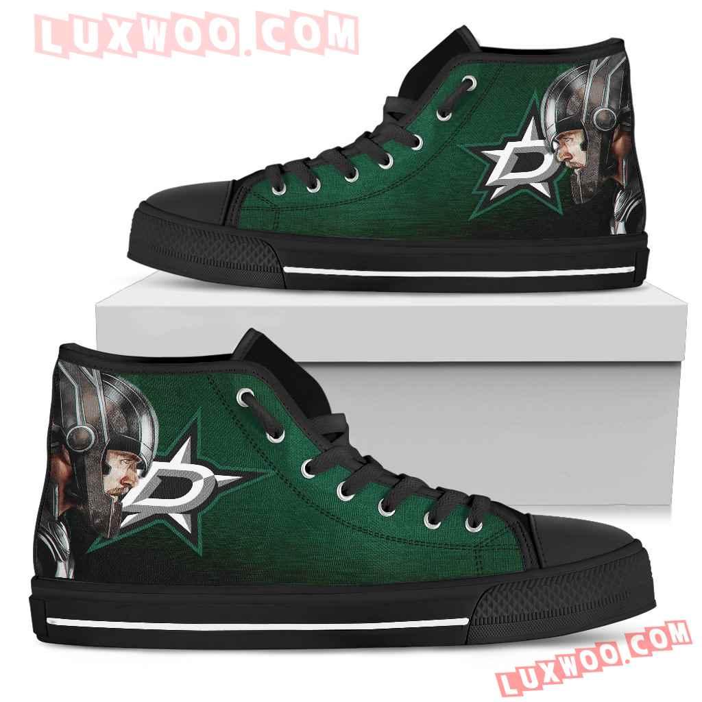 Thor Head Beside Dallas Stars High Top Shoes