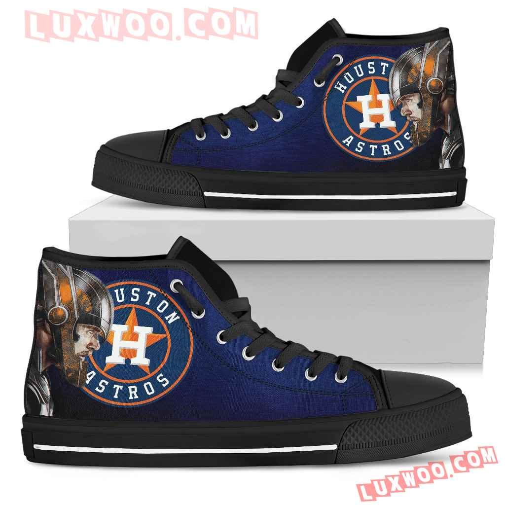 Thor Head Beside Houston Astros High Top Shoes
