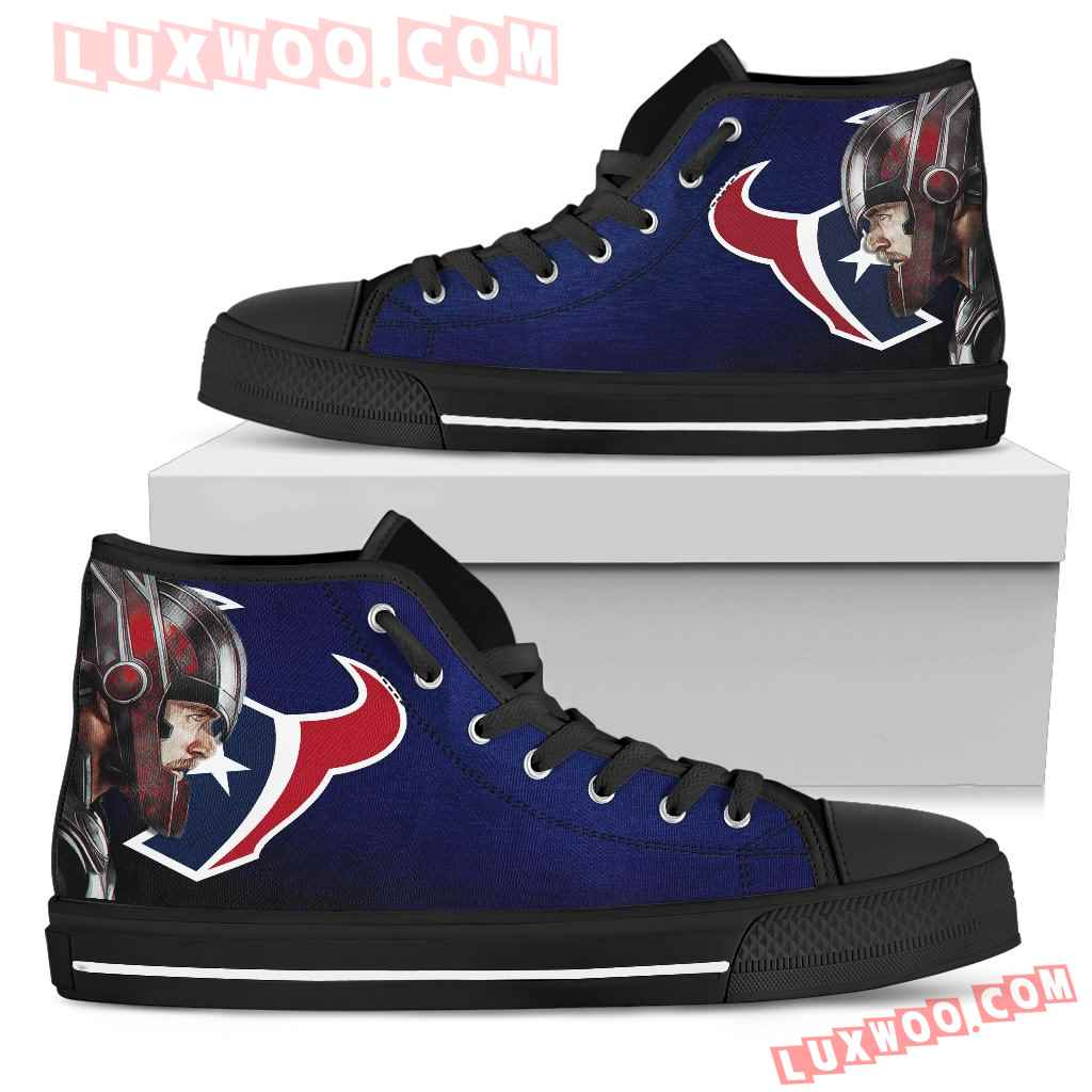 Thor Head Beside Houston Texans High Top Shoes