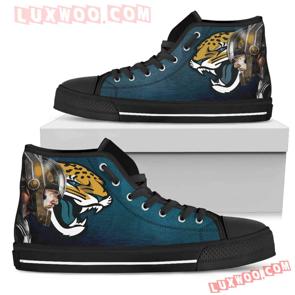 Thor Head Beside Jacksonville Jaguars High Top Shoes