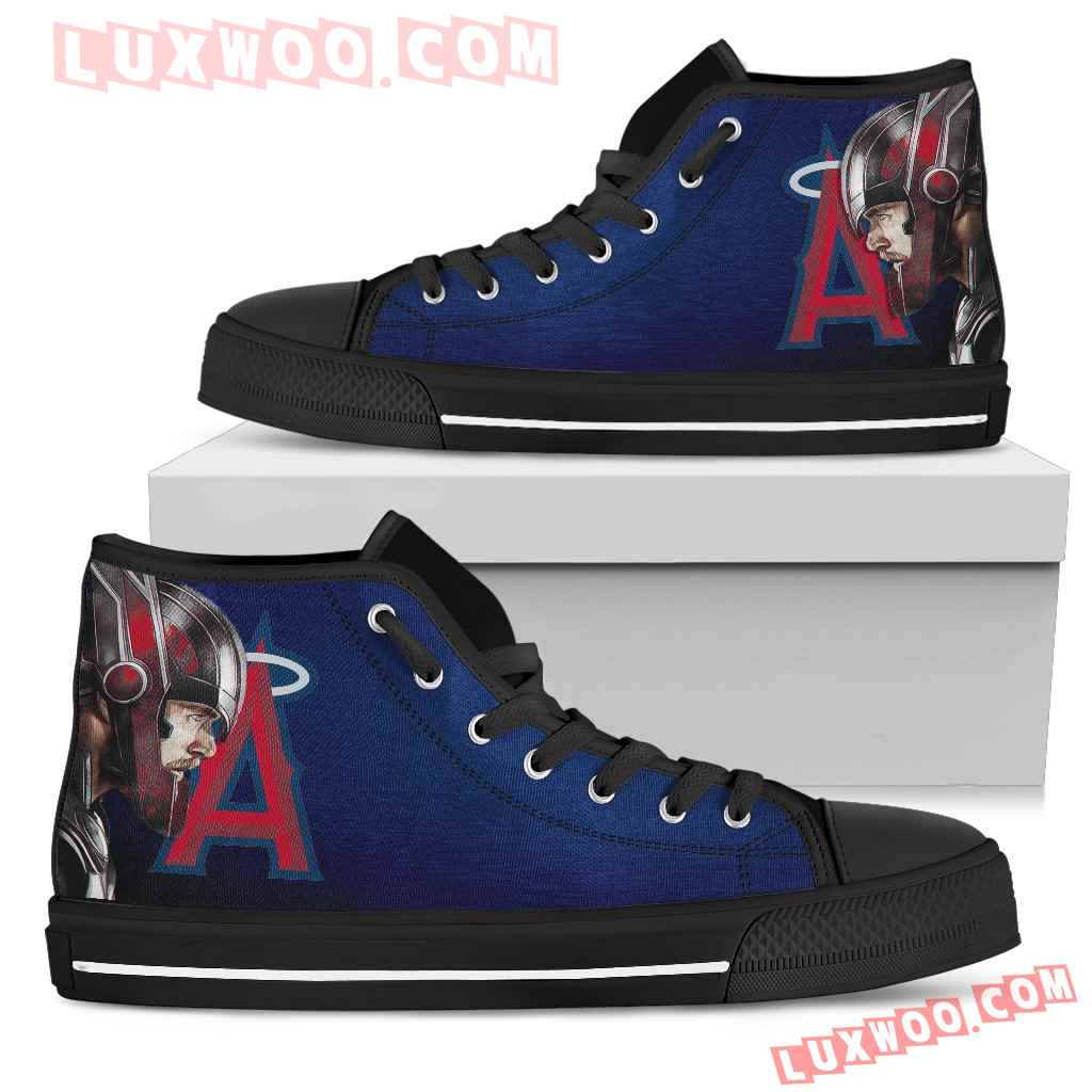 Thor Head Beside Los Angeles Angels High Top Shoes