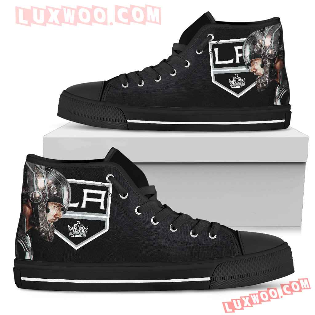 Thor Head Beside Los Angeles Kings High Top Shoes