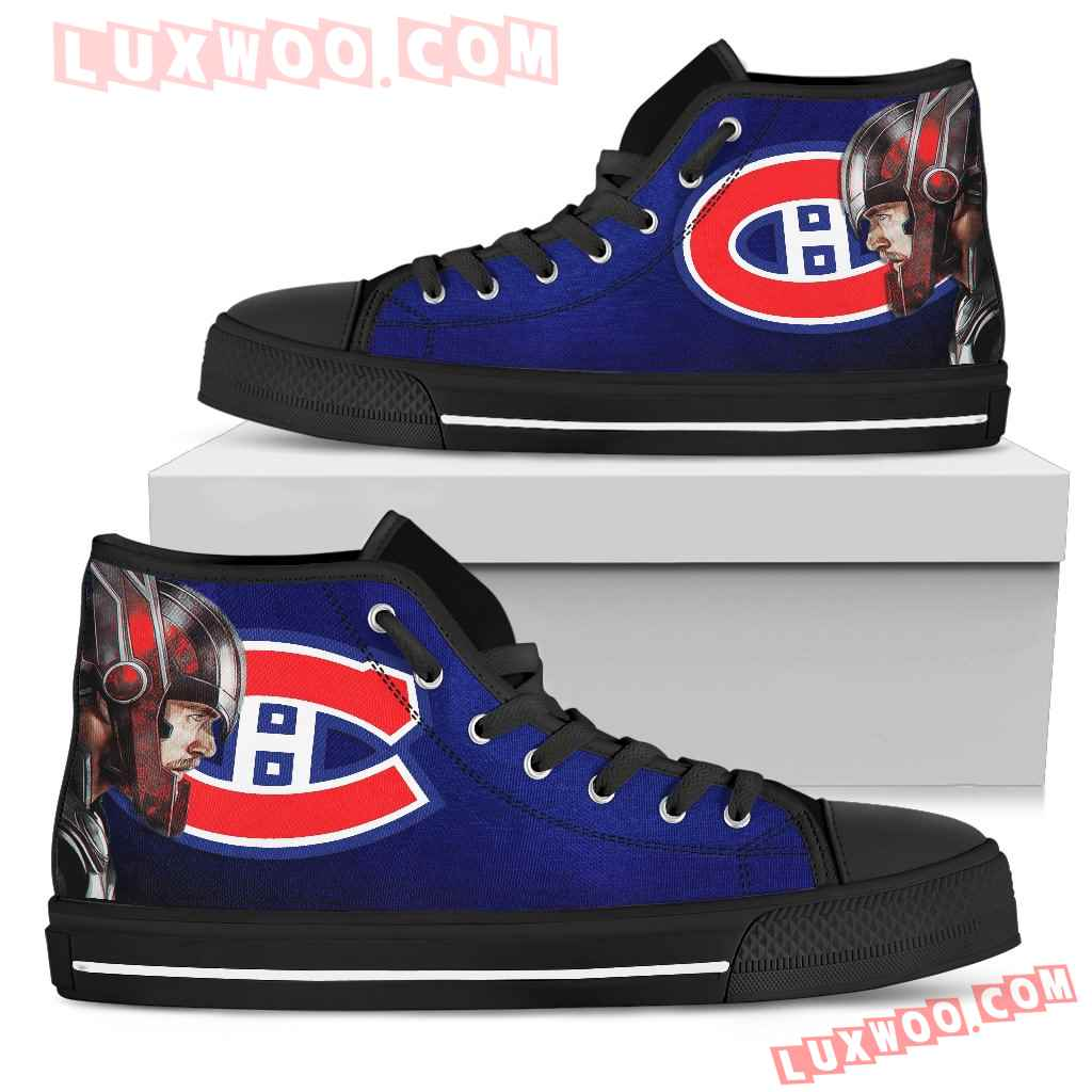 Thor Head Beside Montreal Canadiens High Top Shoes