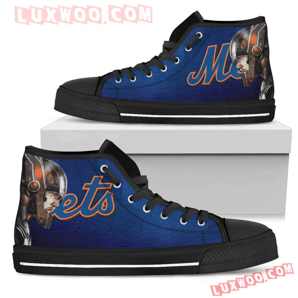 Thor Head Beside New York Mets High Top Shoes