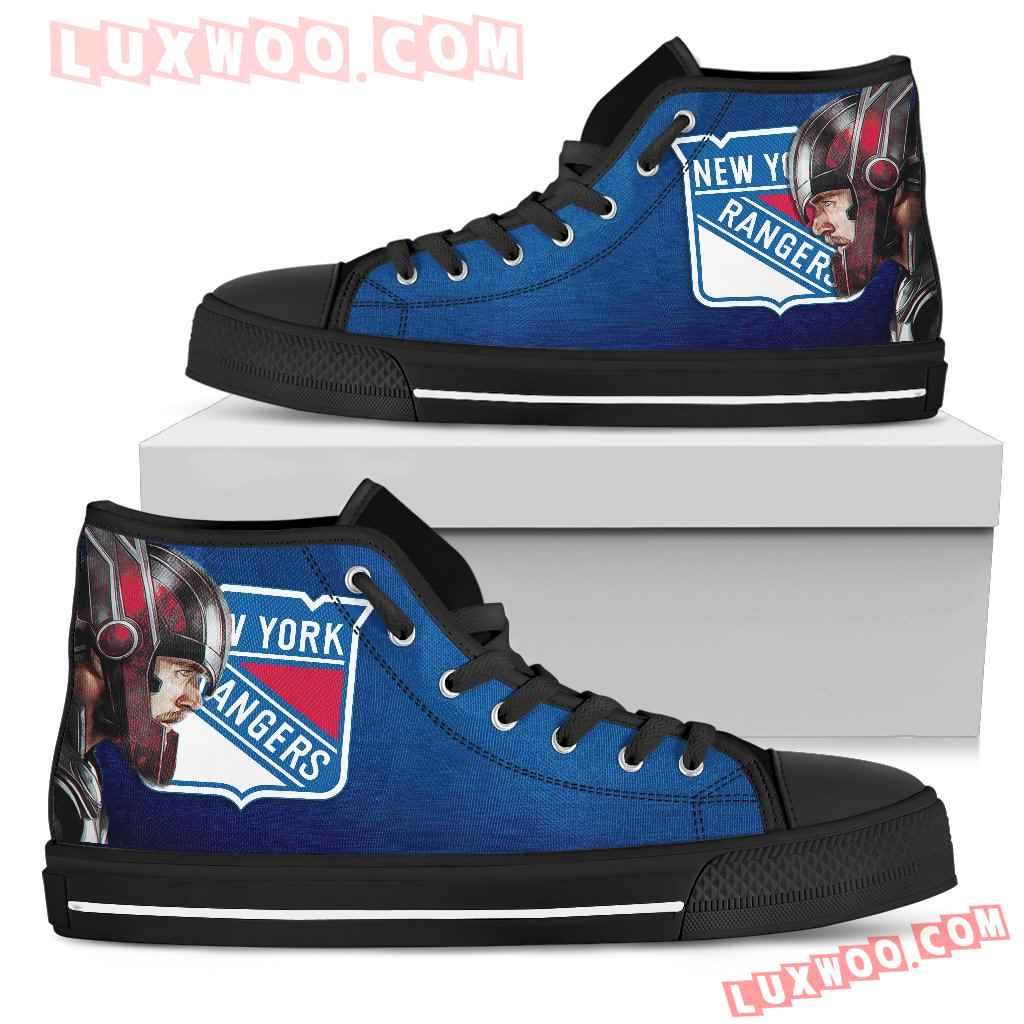 Thor Head Beside New York Rangers High Top Shoes