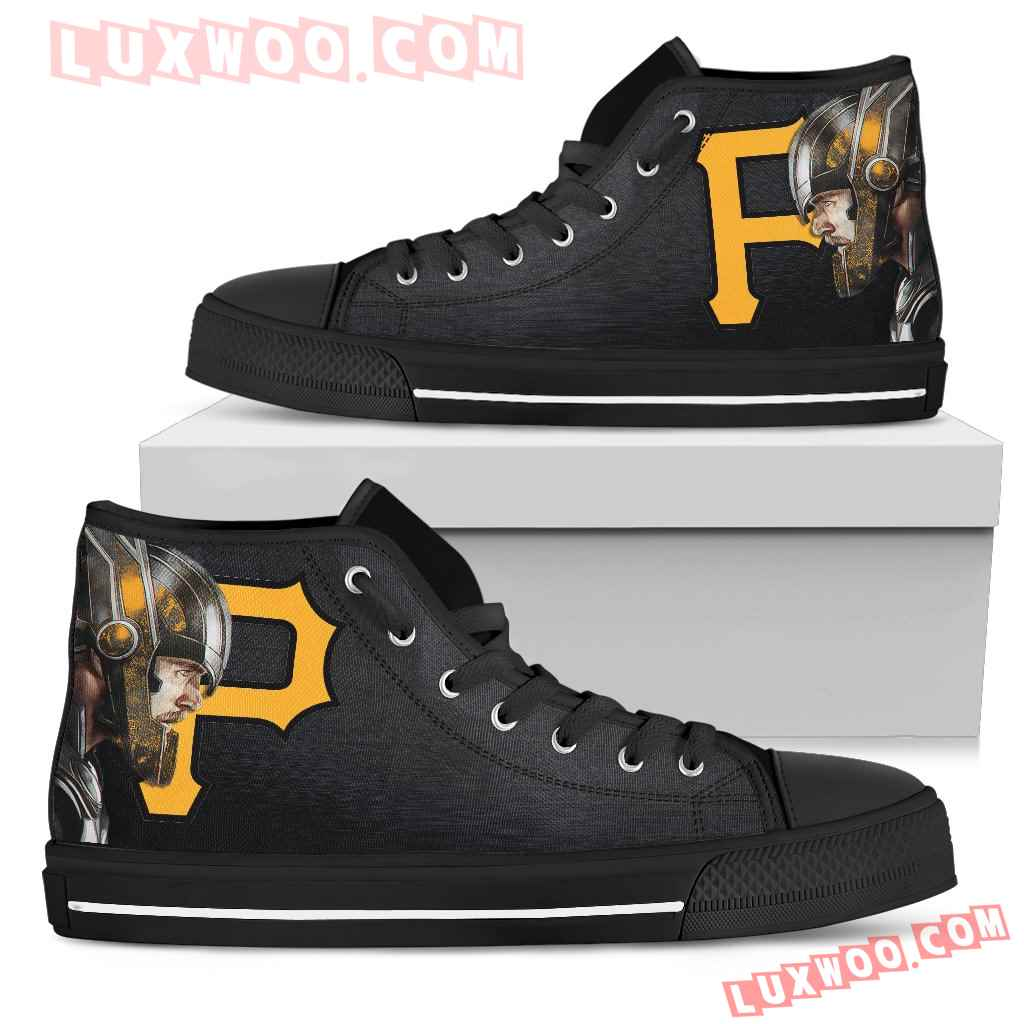 Thor Head Beside Pittsburgh Pirates High Top Shoes