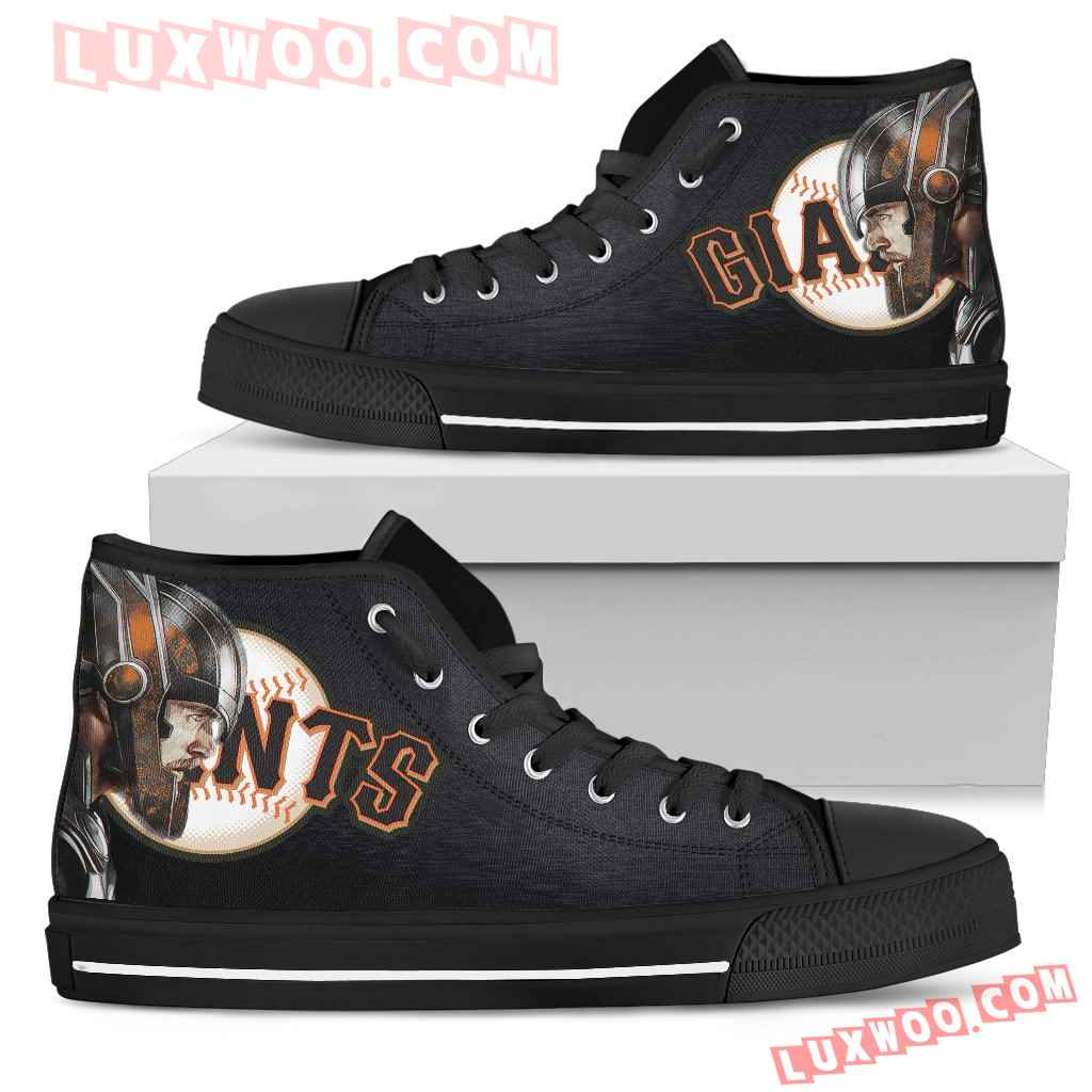 Thor Head Beside San Francisco Giants High Top Shoes