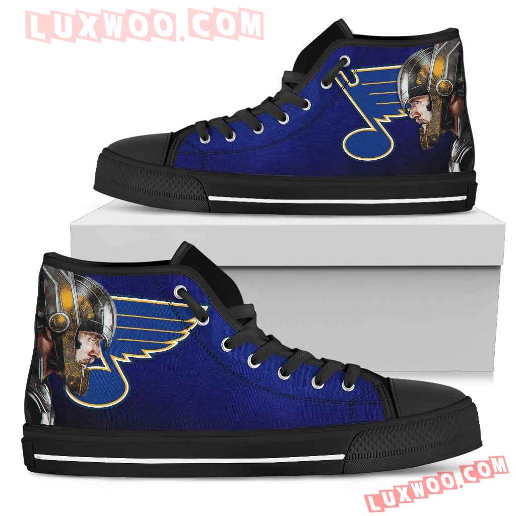 Thor Head Beside St Louis Blues High Top Shoes