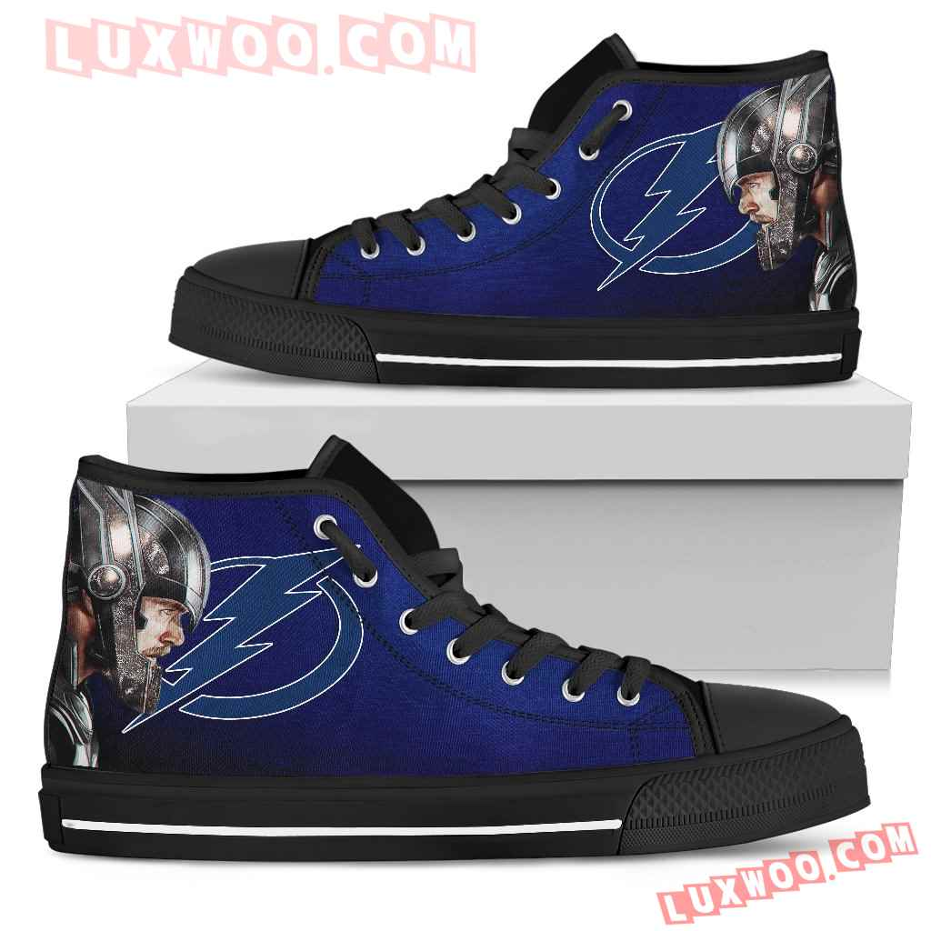 Thor Head Beside Tampa Bay Lightning High Top Shoes