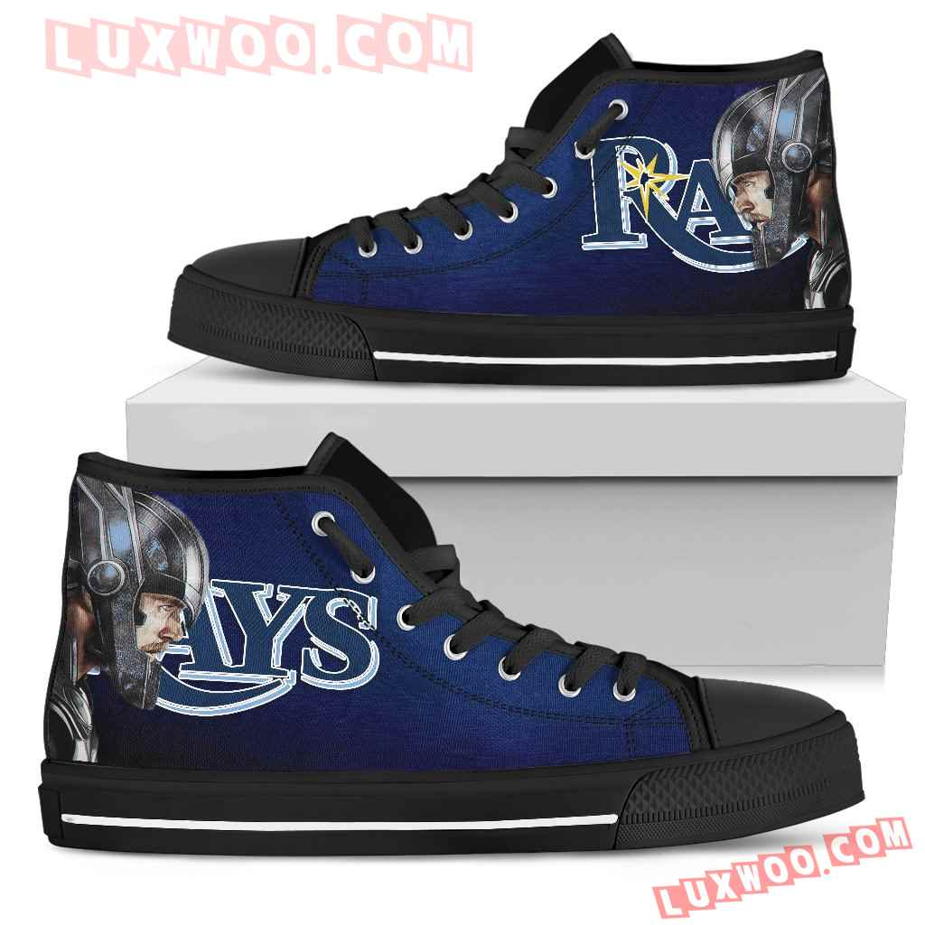 Thor Head Beside Tampa Bay Rays High Top Shoes