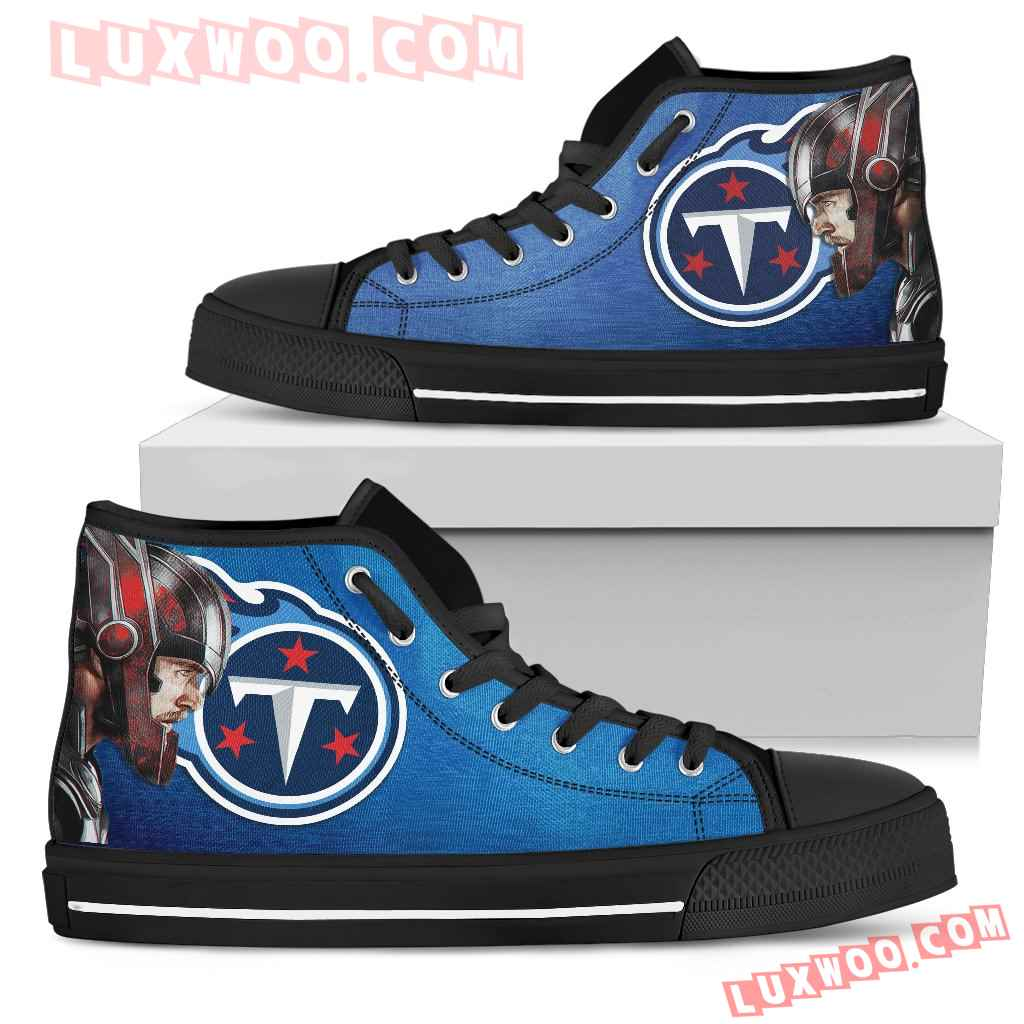 Thor Head Beside Tennessee Titans High Top Shoes